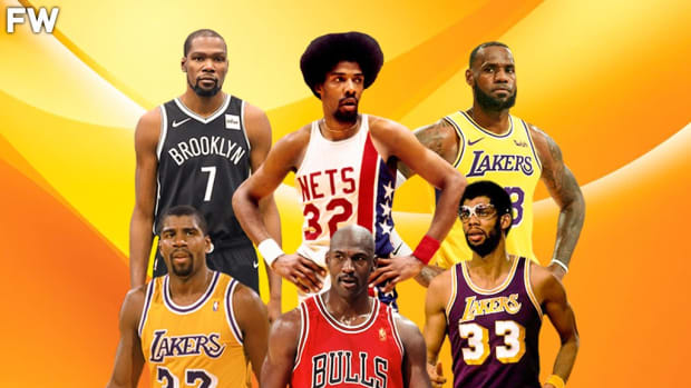 """George Gervin On His Top 5 Players Of All-Time: """"Magic Johnson, Michael Jordan, Julius Erving, Kareem Abdul-Jabbar, And LeBron James. LeBron And Durant I put Them In The Same Kind Of Bag So You Know, Them My Top Guys That I Think Of Man."""""""