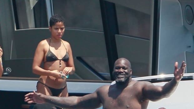 Shaq O'Neal Caught With New Girlfriend Enjoying The Sun In Spain