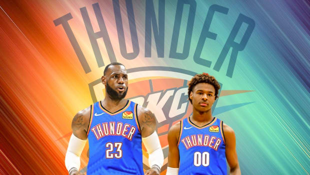 Oklahoma City Could Draft Bronny James And Sign LeBron James in 2024