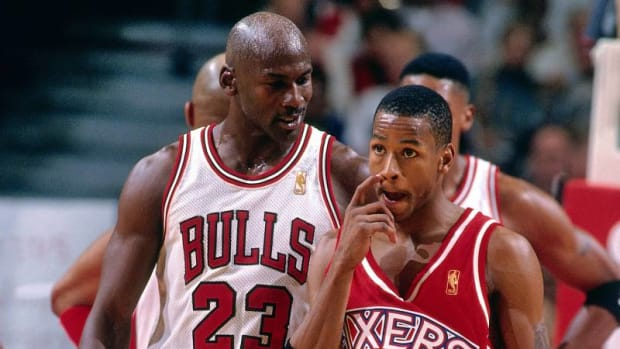 "Michael Jordan's NSFW Greeting For Allen Iverson: ""Wassup Little B**ch"""