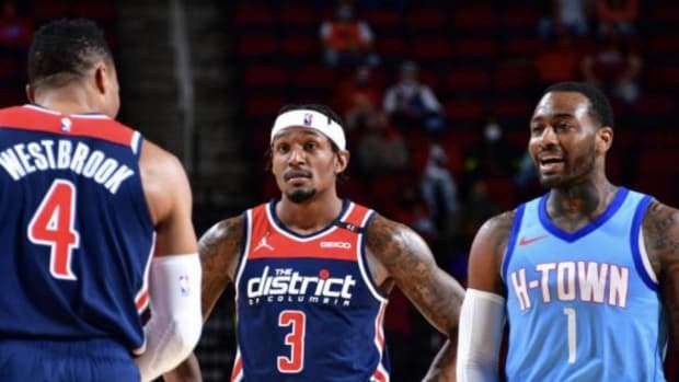 Bradley Beal Stared Down Russell Westbrook During His Exchange With John Wall