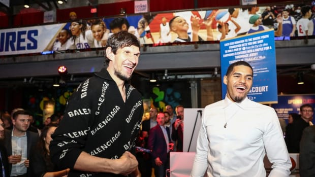 """Boban Marjanovic Compares Tobias Harris With His Wife: """"We're Different But We're The Same. It's The Same Relationship With My Wife. We Don't Watch The Same Movies, Listen To The Same Music, But Together We Make One Great Person."""""""