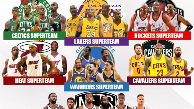 10 Greatest Superteams In NBA History: LeBron's Heat, Warriors 5, Nets Superteam