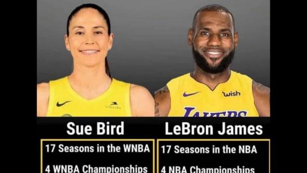 Sue Bird vs. LeBron James Comparison: $215K vs. $37.44M Salary, $11K. $370K Bonus For 2020 Championship