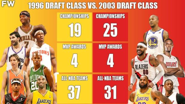 The Full Comparison: 1996 Draft Class vs. 2003 Draft Class