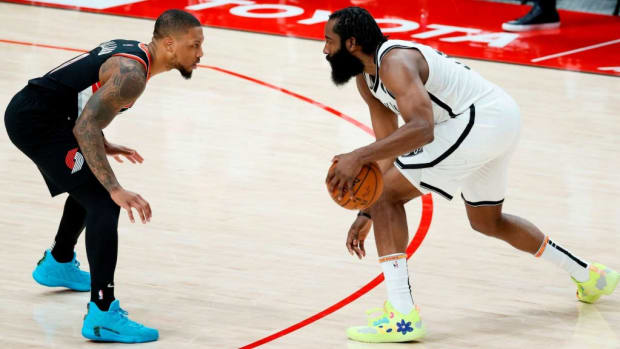 """Damian Lillard: """"We're Not The Brooklyn Nets. They Have Superstar Power. You Know The Ability Of That Team. One Day They Can Get Hot And Run You Out Of The Gym."""""""