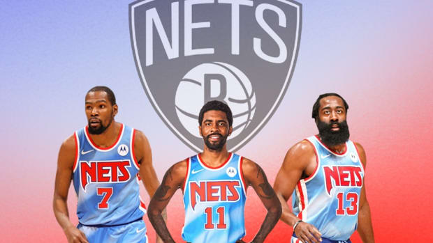 """Colin Cowherd Dislikes The Nets Superteam: """"What's Likable About This Nets Team? They're All Bailers. James Harden Quit On Houston, Kyrie Quit On LeBron And Brad Stevens... KD Leaving Golden State?"""""""