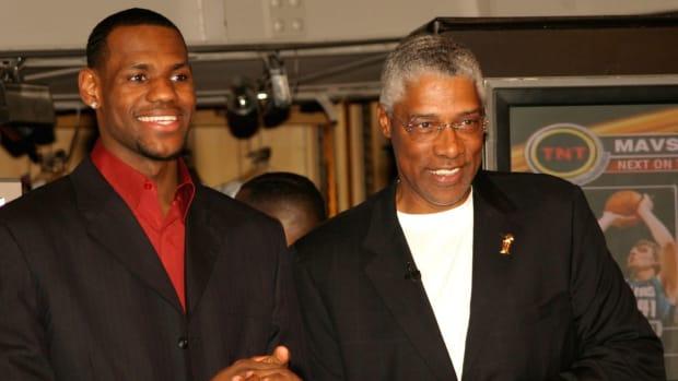 LeBron James and Julius Erving
