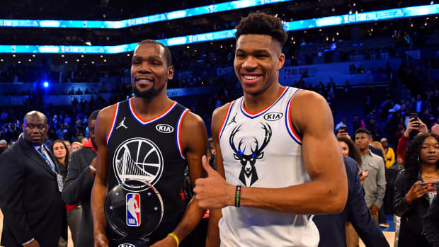 "Giannis Antetokounmpo On Kevin Durant- ""He's One Of The Greatest Scorers To Ever Play The Game."""