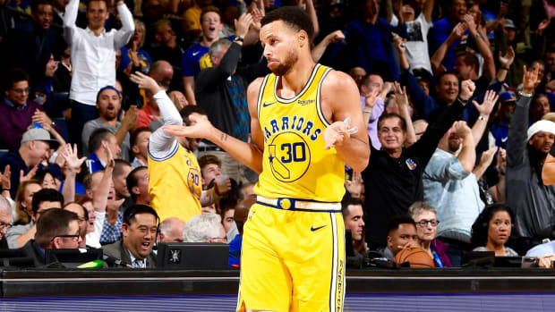 "Steph Curry Reacts After Lights Go Out Mid-Shot- ""I Hadn't Seen That One Before..."""
