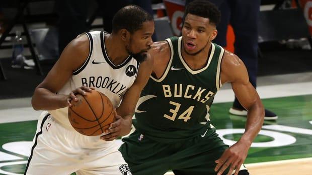 "NBA Fans React To Bucks Vs. Nets Matchup- ""I Hope Giannis Likes Cancun."""