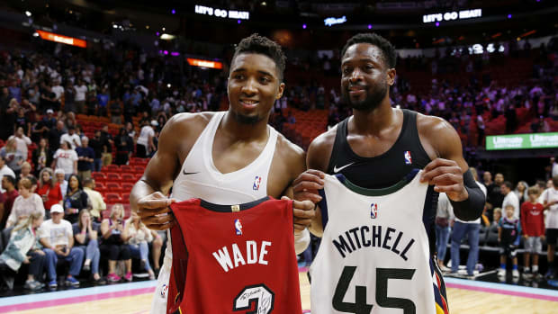 Dwyane Wade and Donovan Mitchell