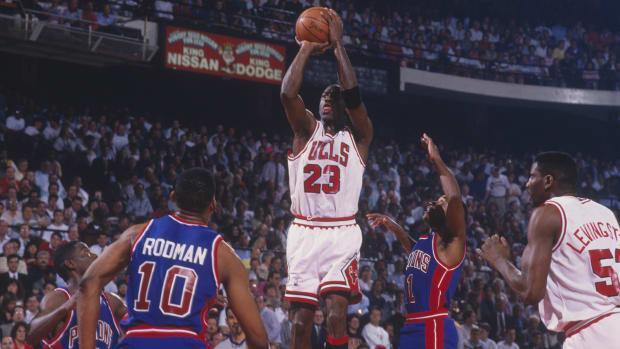 Michael Jordan Bulls Pistons GETTY