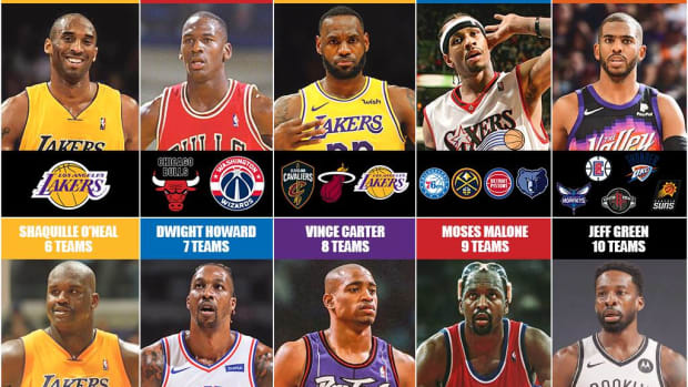 The Best NBA Players To Play With One Team, Two Teams, Three Teams, Four Teams...