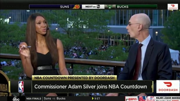 """Maria Taylor Accidentally Says """"Semen"""" Instead Of """"Seasons"""" While Talking With Adam Silver"""
