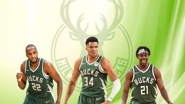 """Giannis Antetokounmpo On What It Takes To Win A Championship: """"I'm Tired. I Look Next To Me, Khris Is Tired, And Jrue Is Tired... That's Why You Want To Hug Them, Put Your Arm Around Them And Say 'We Got This, We Got This Together.'"""""""