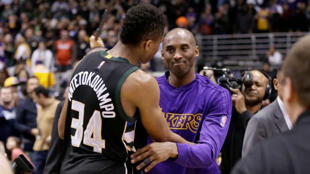 "Giannis Antetokounmpo Fulfills Kobe Bryant's Challenge- ""MVP Greatness. NBA Championship."""