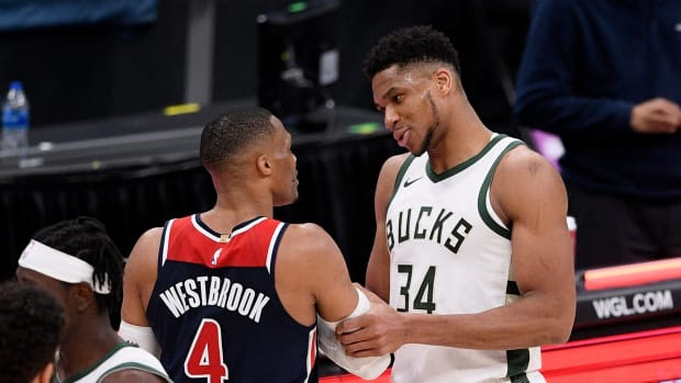 """Giannis Antetokounmpo Loves Russell Westbrook- """"His Demeanor, His Speed, But Especially His Scowl."""""""