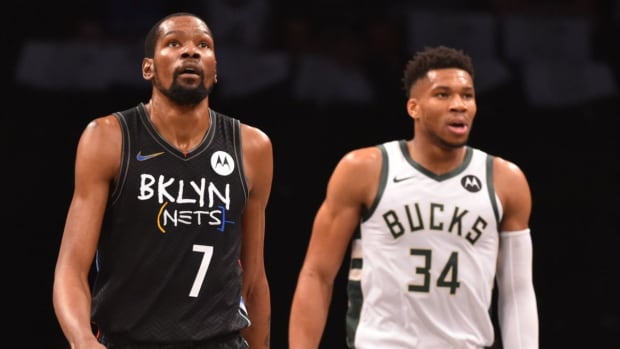Giannis Antetokounmpo and Kevin Durant