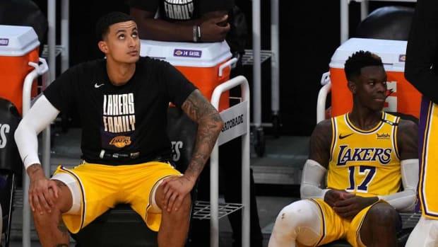 "NBA Rumors- Dennis Schroder And Kyle Kuzma Were ""Feuding"" During Round Elimination"