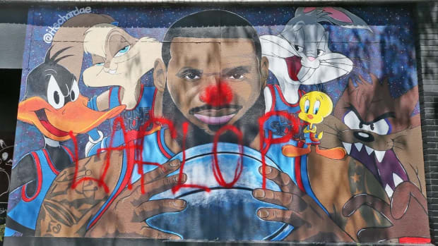 LeBron James Hater Vandalizes Space Jam 2 Mural In Akron