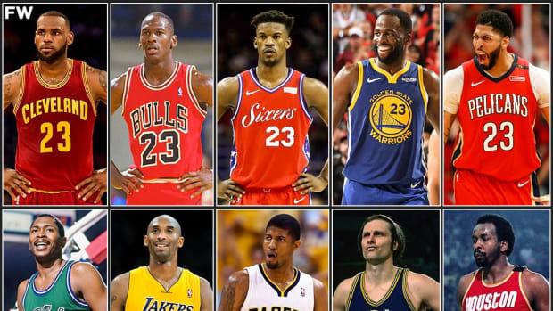 Team No. 23 vs. Team No. 24: Michael Jordan And LeBron Challenge Kobe Bryant And Paul George