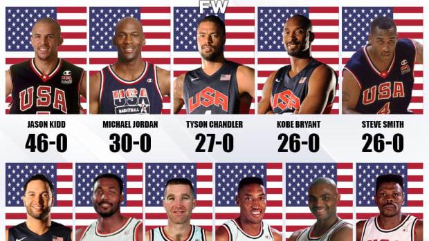 NBA Stars Who Never Lost With Team USA: Jason Kidd 46-0, Michael Jordan 30-0
