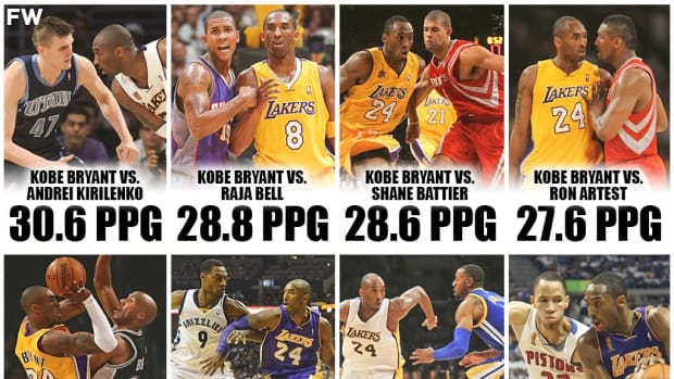 Kobe Bryant's Stats Against The Best On-Ball Defenders Of His Era: The Black Mamba Was Unstoppable