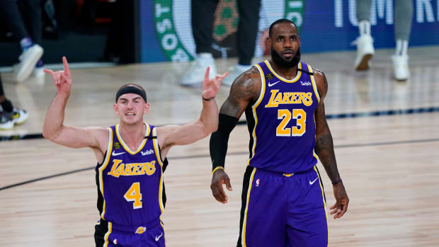 """LeBron James Hints At Wanting To Swap Jerseys With Alex Caruso Next Season: """"My Twin I Need That 6 Jersey ASAP"""""""