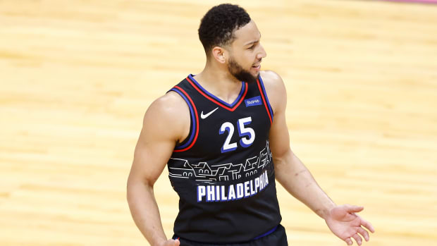 Udonis Haslem Took More Shots The Only Time He Played Last Season Than Ben Simmons Took In Consecutive 4th Quarters Of The Hawks-76ers Series
