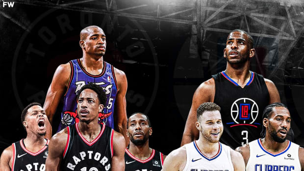 Los Angeles Clippers And Toronto Raptors Are The Only Two Teams In The NBA Without Any Jerseys Hanging In The Rafters