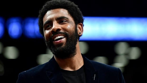 Kyrie Irving Responds To Nick Wright's Comment That He Will Retire If Nets Trade Him