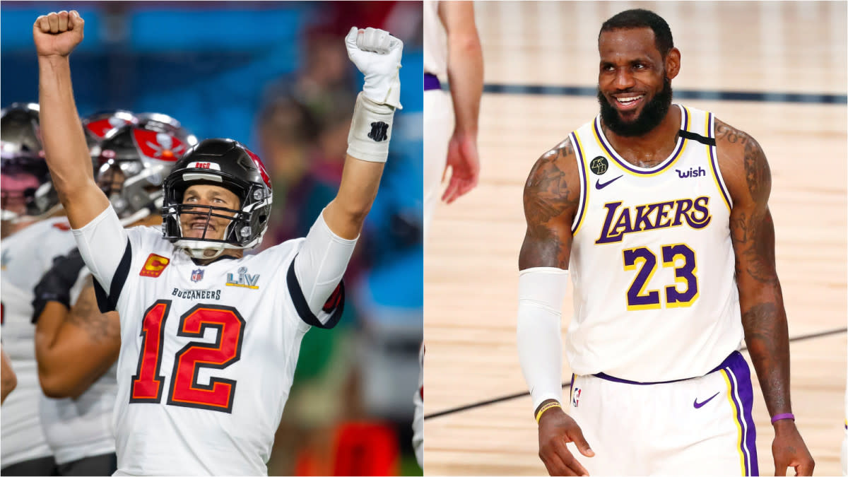 LeBron James Reacts To Tom Brady's First Game In Los Angeles