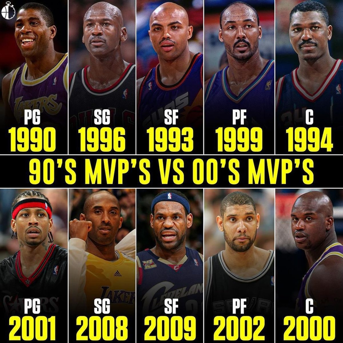 Who Would Win 7-Game Series: 90s MVPs vs. 00s MVPs