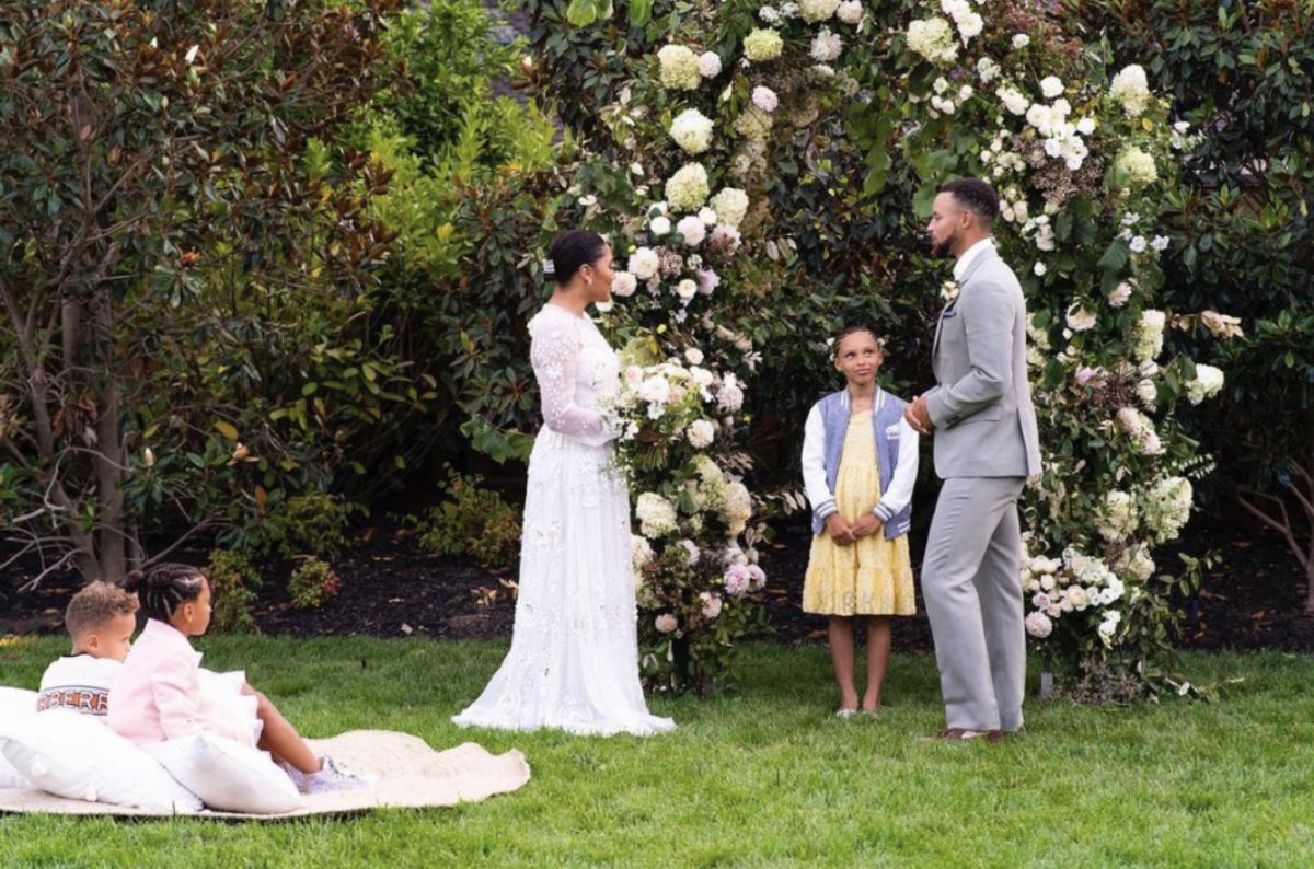 Ayesha Curry and Stephen Curry during their wedding vow renewal ceremony