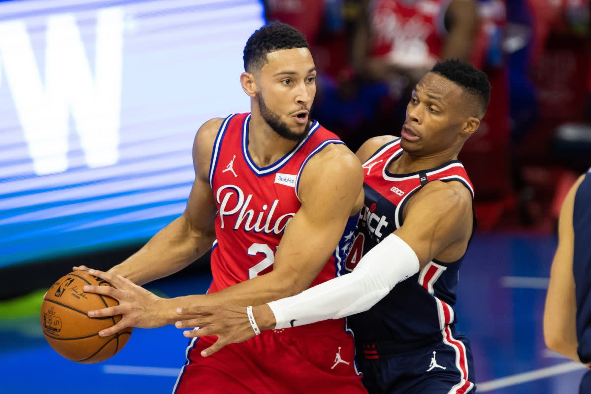 """Skip Bayless Says Ben Simmons Deserves To Be Ahead Of Russell Westbrook In Recent Rankings: """"Westbrook Has Always Been Supremely Overrated As A Winning Basketball Player."""""""