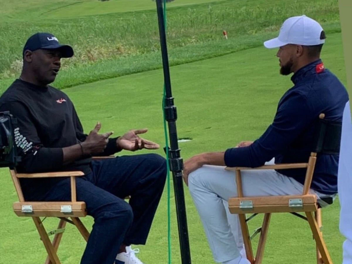 Michael Jordan And Stephen Curry Spotted Having A Chat At Ryder Cup