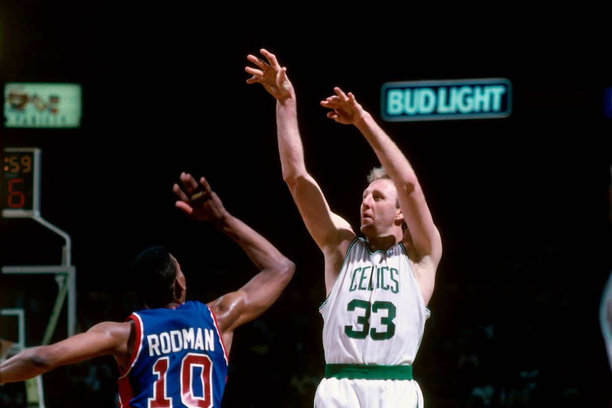 """Dennis Rodman On Why Larry Bird Won MVP: """"He's White. That's The Reason Why He Gets The MVP Award"""""""
