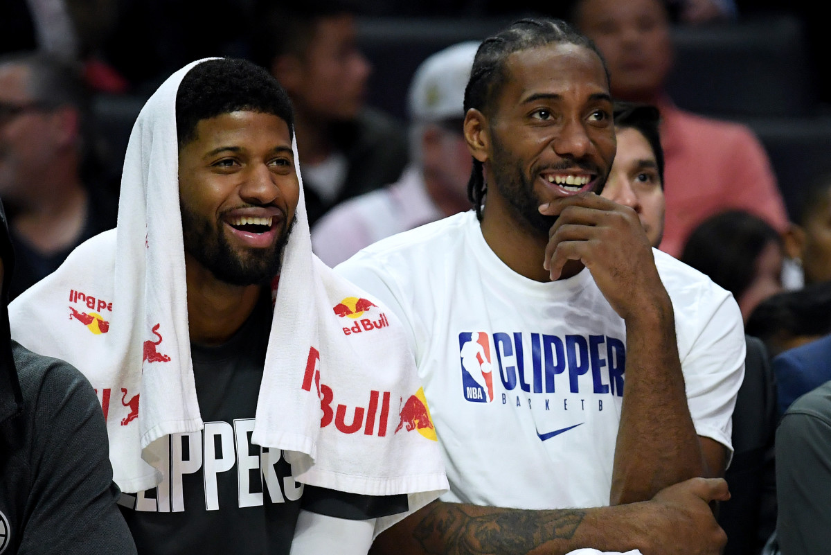 Los Angeles Clippers Star Duo Kawhi Leonard And Paul George Seen At LA Rams Game