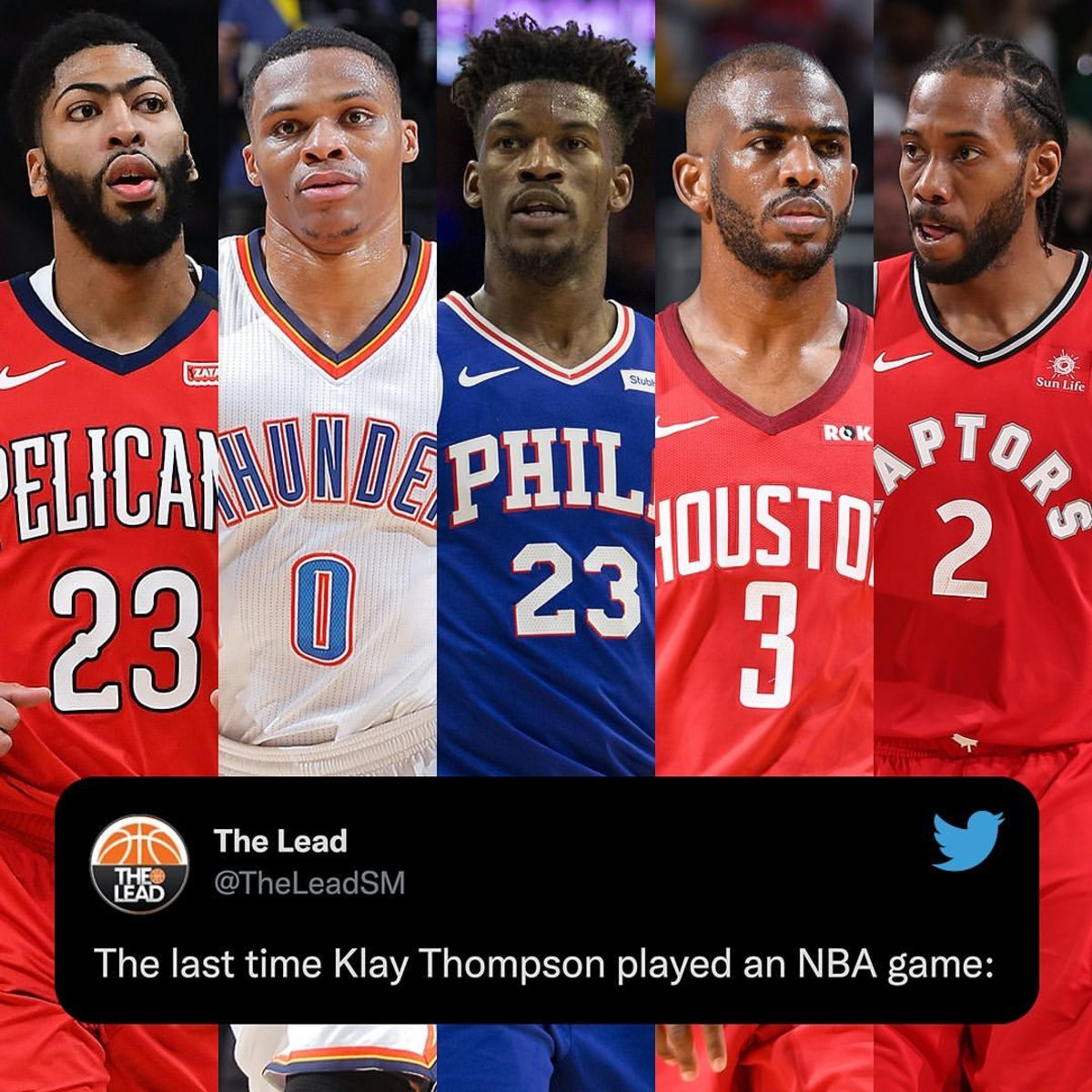 The Last Time Klay Thompson Played An NBA Game: Anthony Davis Was Still With Pelicans, Kawhi Leonard With Raptors, Russell Westbrook With Thunder