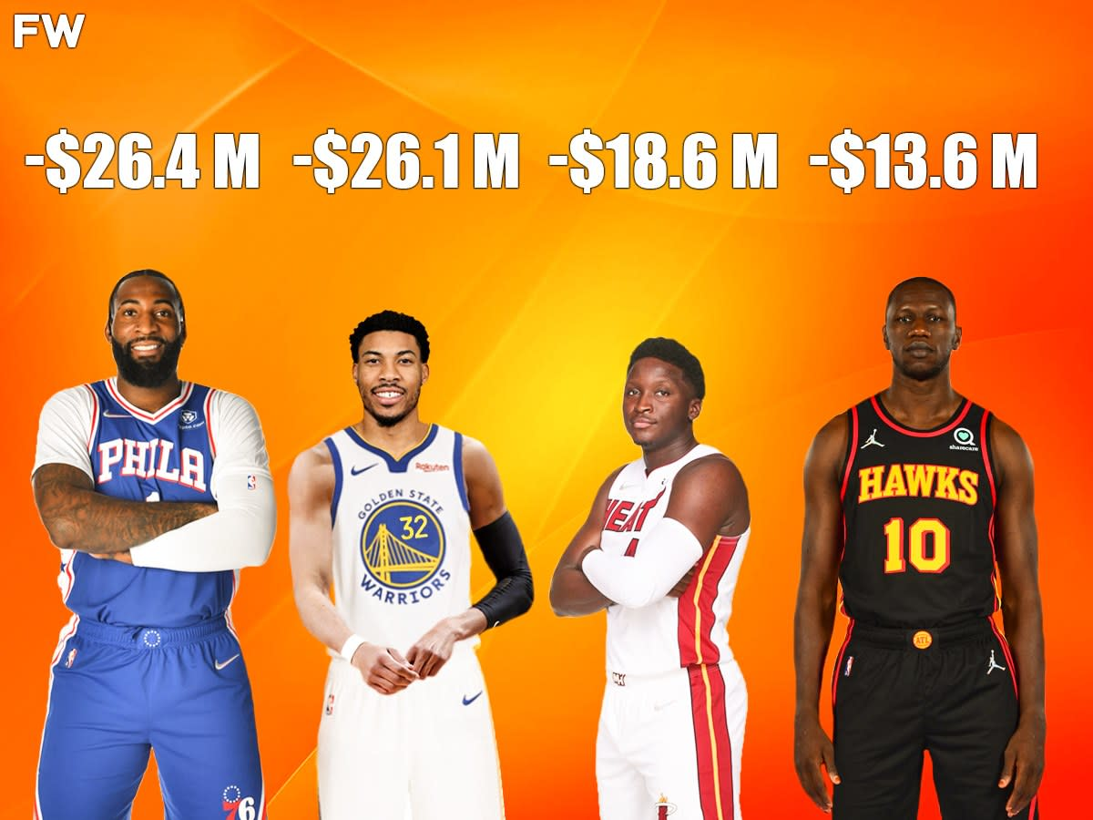 The Biggest Pay Cuts In The 2022 NBA Season: Andre Drummond -$26.4M, Otto Porter -$26.1M