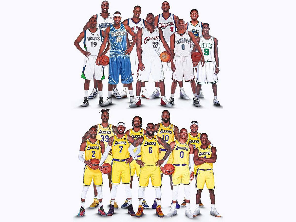 """Los Angeles Lakers As Rookies And Now: """"Another LeBron's Super Team, How Many Times..."""""""