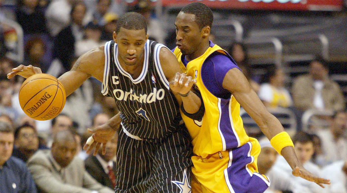 Tracy McGrady Fakes Out Kobe Bryant, But Kobe Got His Revenge And throws it down on the entire state of Florida
