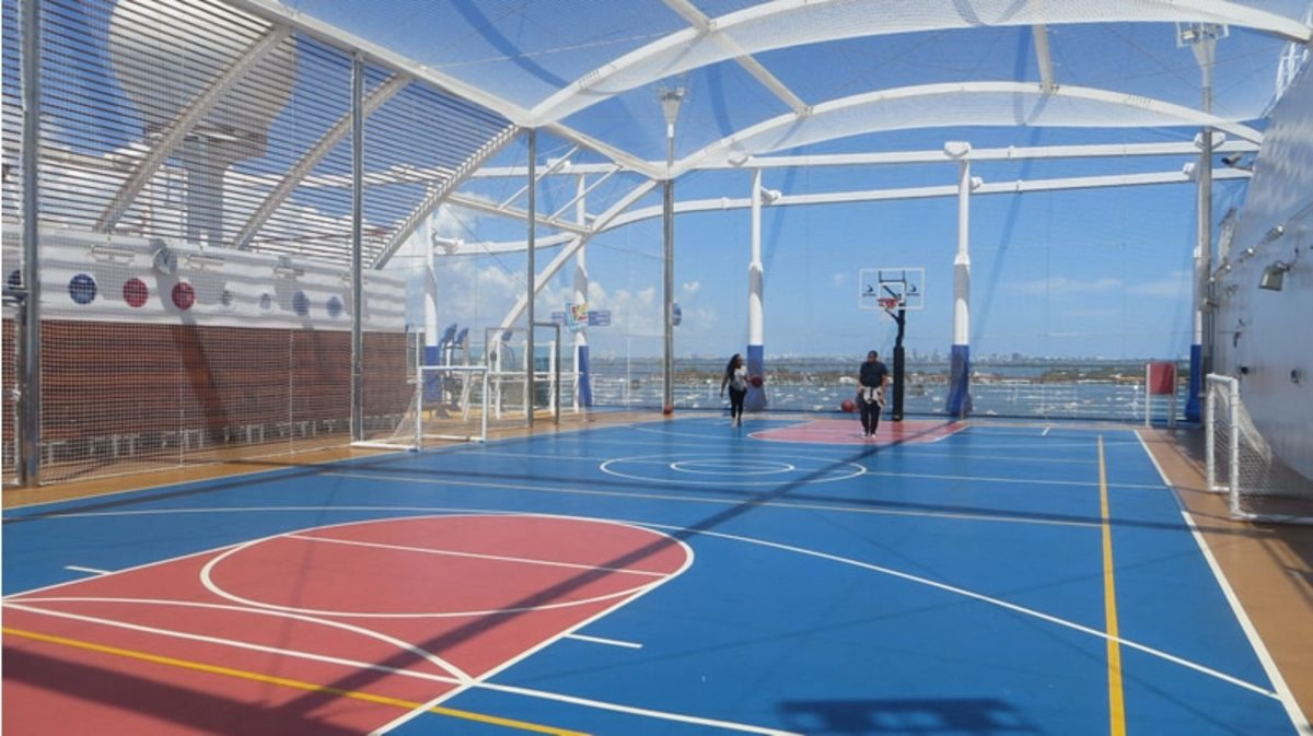 Carnival Cruise Ship Basketball Court (Bahamas)