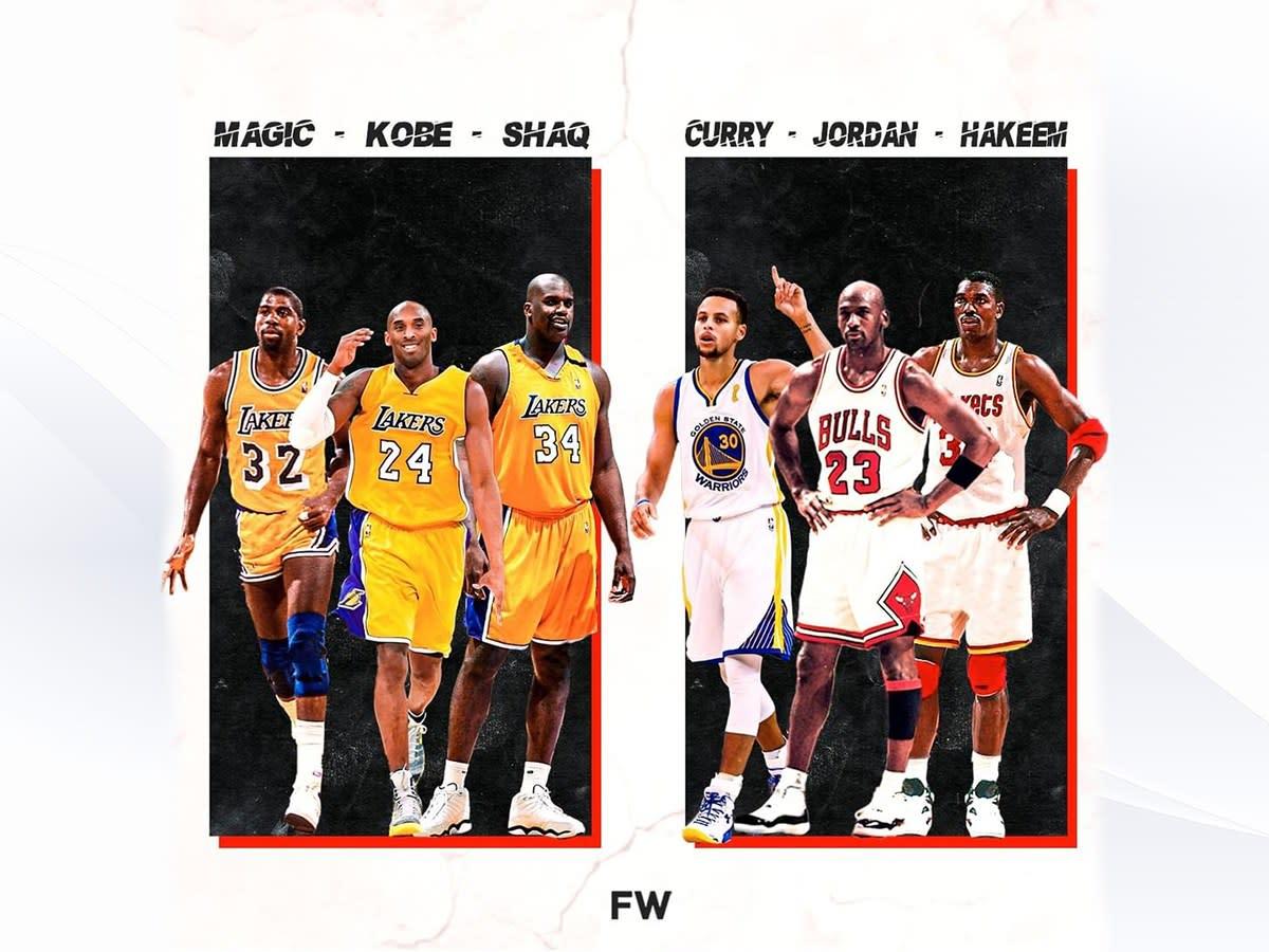 NBA Fans Debate Who Would Win In A 3-On-3 Match: Magic, Kobe, Shaq vs. Curry, Jordan, Hakeem