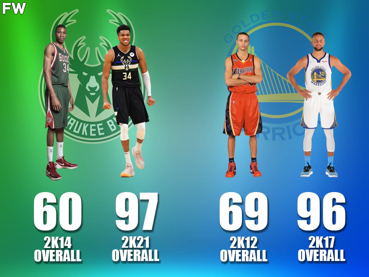 Biggest Overall Increases In NBA 2K In Recent Years: Giannis Gained 37 Overall Points In Just 7 Years