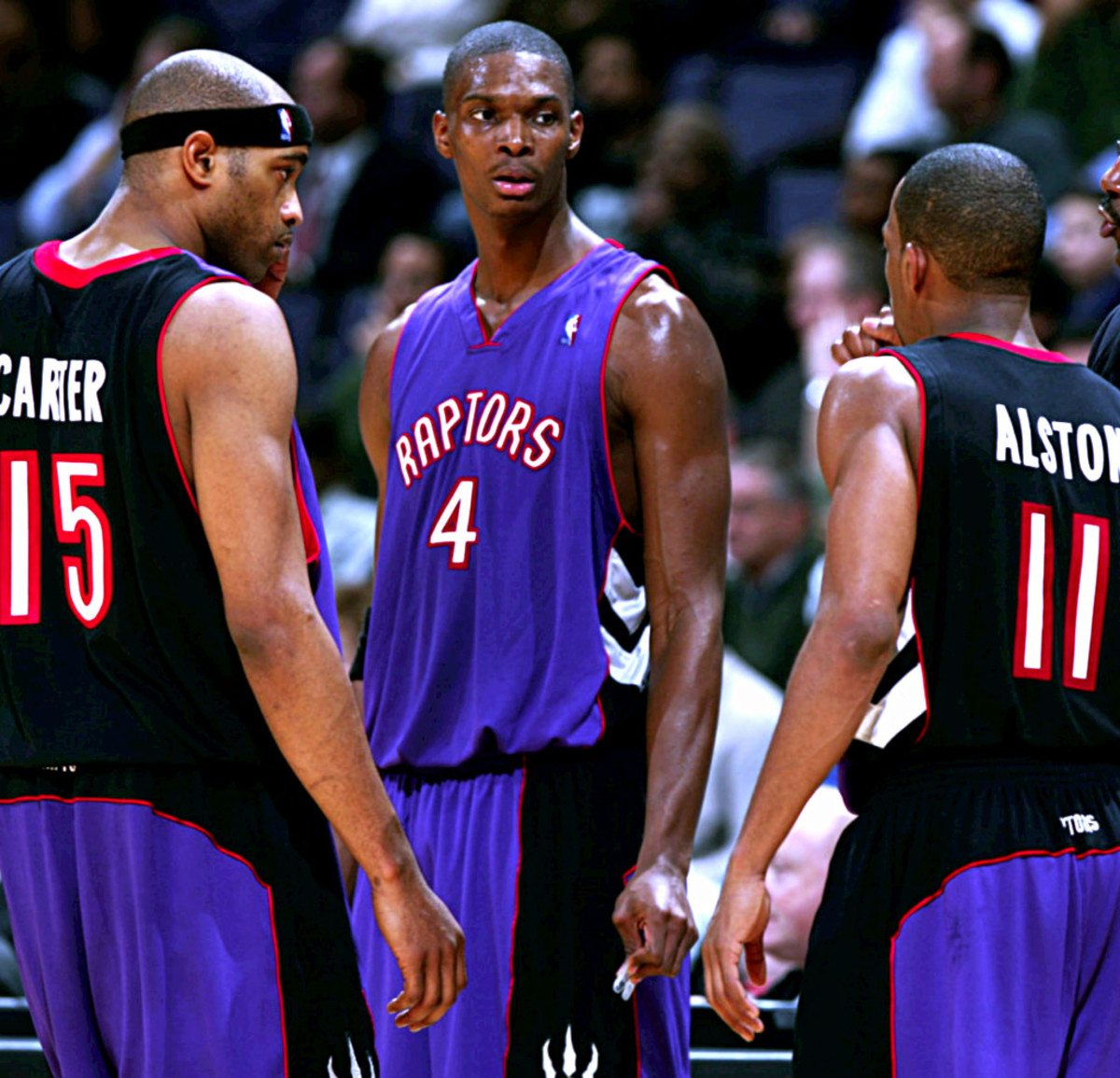 Chris Bosh and Vince Carter in Raptors jersey