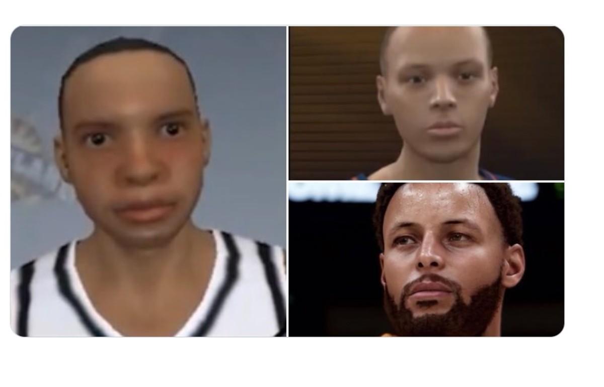 NBA Fans Troll Steph Curry's Face Evolution On NBA 2K