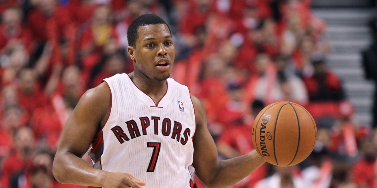 TORONTO, ON - MAY 4:  Kyle Lowry #7 of the Toronto Raptors plays against the Brooklyn Nets in Game Seven of the NBA Eastern Conference Quarterfinals at the Air Canada Centre on May 4, 2014 in Toronto, Ontario, Canada. The Nets defeated the Raptors 104-103 to win the series 4-3. NOTE TO USER:  user expressly acknowledges and agrees that, by downloading and/or using this Photograph, user is consenting to the terms and conditions of the Getty Images License Agreement. (Photo by Claus Andersen/Getty Images)