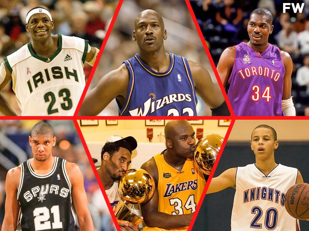 How The NBA Looked When Tom Brady Wasn't A Super Bowl Champion: MJ Was Playing For The Wizards, Shaq And Kobe Only Had 1 Ring, LeBron Was A Junior In High School